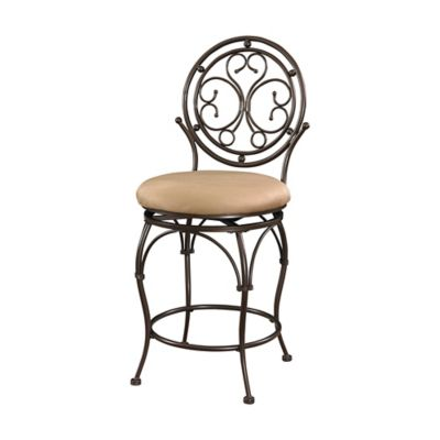Scroll Circle Back Bar Stools