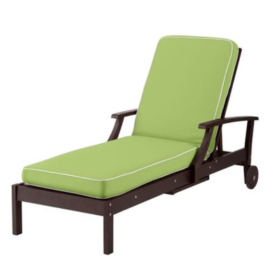 Outdoor Cushions - Key Lime with White Welt