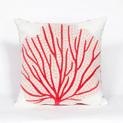 Coral Fan Outdoor Pillow
