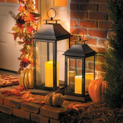 Belmont Outdoor Lantern with Flameless Candles and Remote