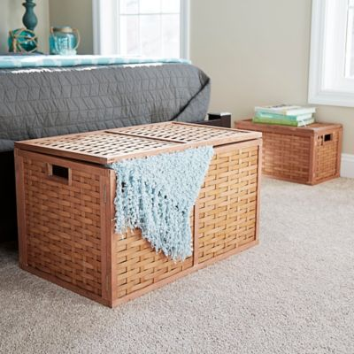 Poplar Wicker Storage Trunk and Chest