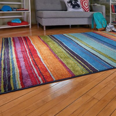 Rainbow Stripe Area Rugs