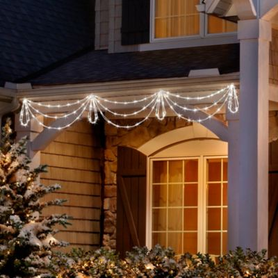 7' LED Christmas Light Swags