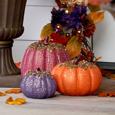 Beaded Fall Pumpkin Decorations