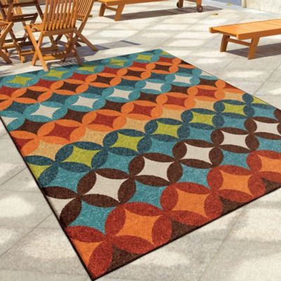 Pizzazz Multi-Colored Indoor/Outdoor Rugs