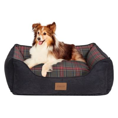 Kuddler Gray Stewart Plaid Dog Beds