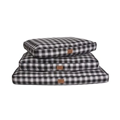 Charcoal Ombre Plaid Pet Beds