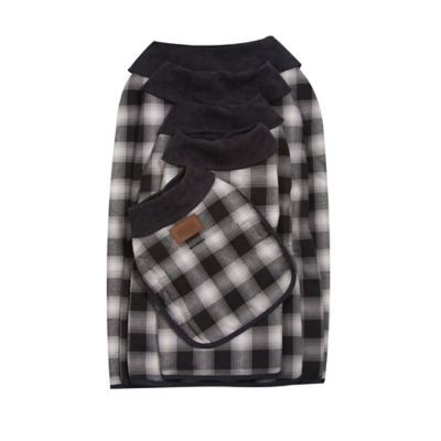 Charcoal Ombre Plaid Dog Sweaters