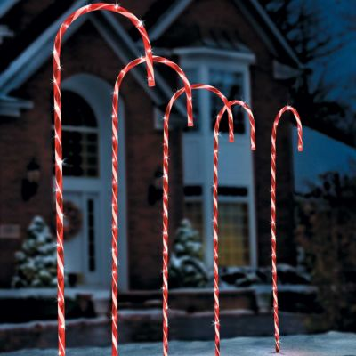 60 candy cane with mini lights aloadofball Image collections