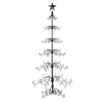 metal ornament tree 84h improvements - Metal Christmas Tree Ornament Display