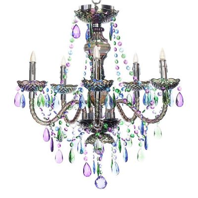 Pea Jewel 5 Arm Battery Operated Chandelier With