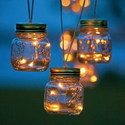 Mason jar string lights improvements workwithnaturefo