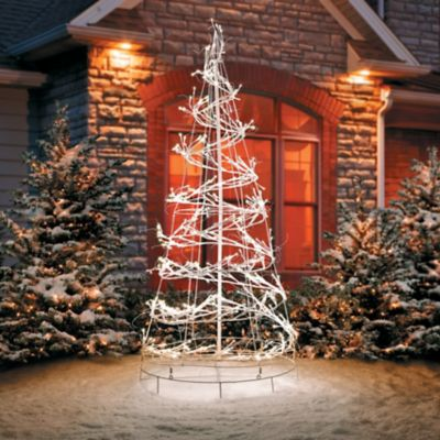 6 led spiral tree outdoor christmas decoration - Outdoor Christmas Decorations Led Spiral Tree