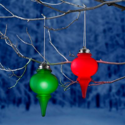 Illuminated outdoor christmas ornaments improvements illuminated finial outdoor christmas ornament aloadofball Image collections