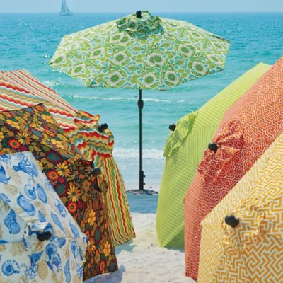 Outdoor Specialty Printed Umbrellas and Replacement Canopies & Patio Umbrella Stands u0026 Bases | Improvements