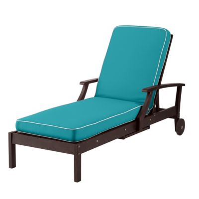 Outdoor Cushions   Bahama Blue With White Welt