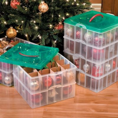 christmas ornament storage snap n stack oranament storage 12812
