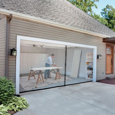Garage door screen kit for Screen door garage roller door