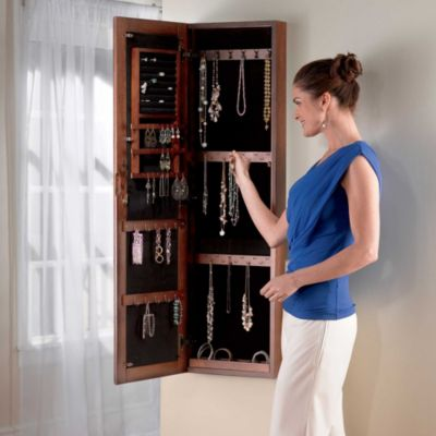 LED Lighted Jewelry Armoire with Mirror Improvements
