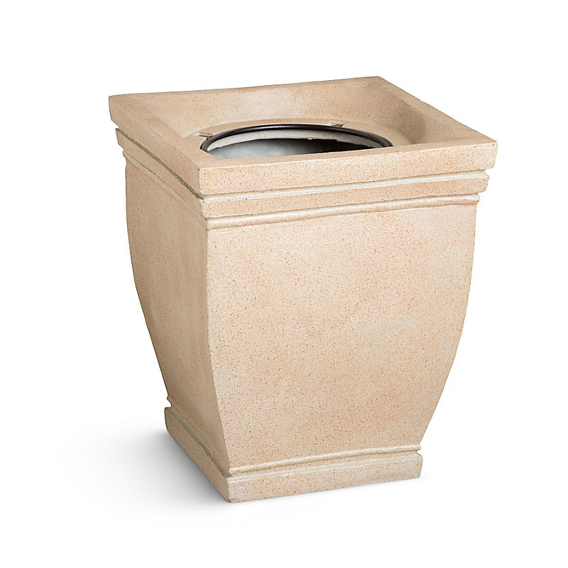 Tuscany Square Topiary Urn - Sand