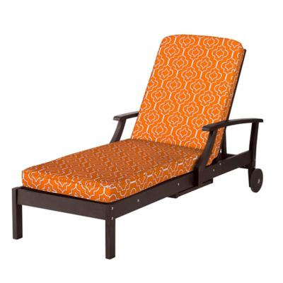 Chaise cushion box edge 72 x21 x3 1 2 taza orange tile for Box edge chaise cushion
