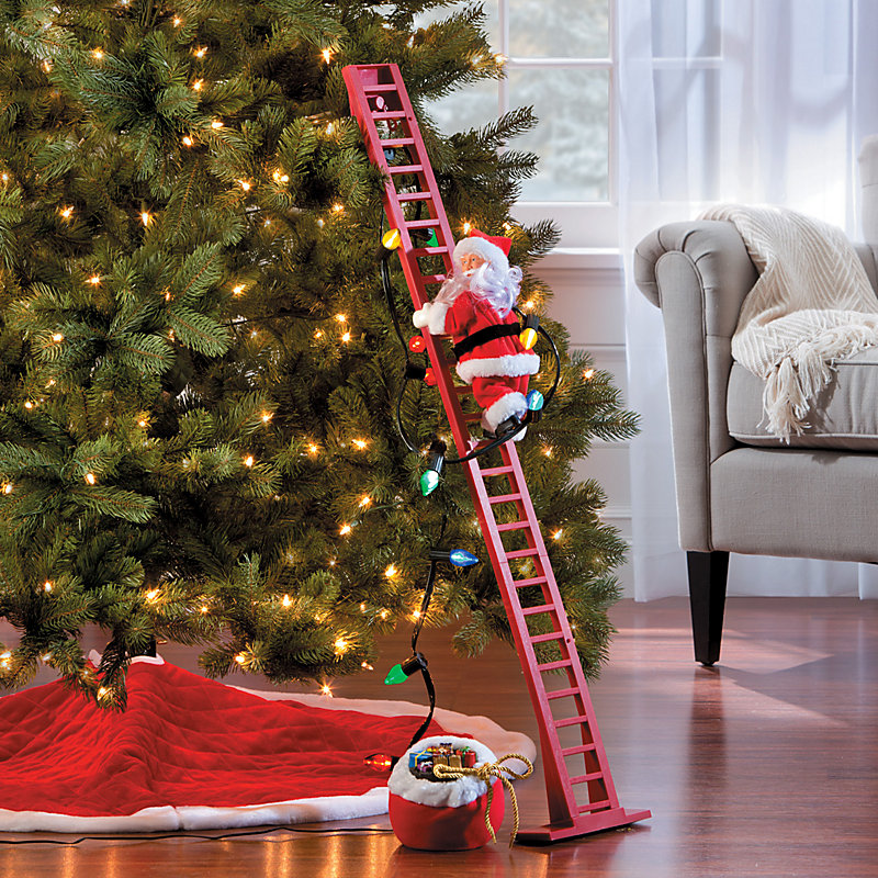 animated christmas decorations super climbing santa