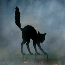 Witch Silhouettes With Cauldron Outdoor Halloween
