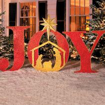 joy metal christmas yard decor