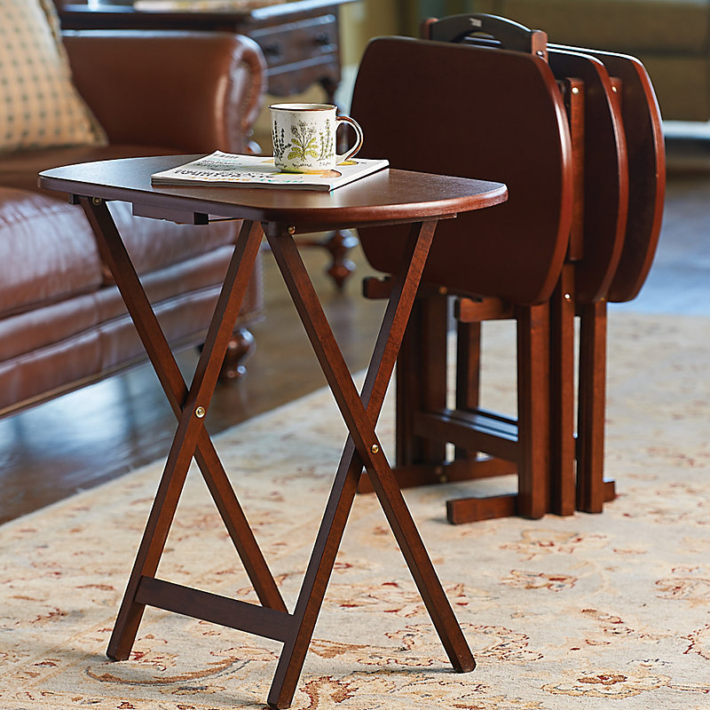 Holden Oversized Snack Tray Tables-Set of 4 & Tray Tables - Improvements
