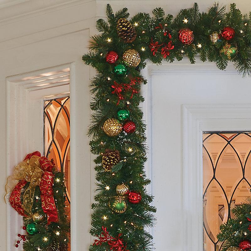 6u0027 Pre Lit Merry U0026 Bright Christmas Garland