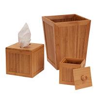 5 piece bamboo bathroom accessory set | improvements catalog