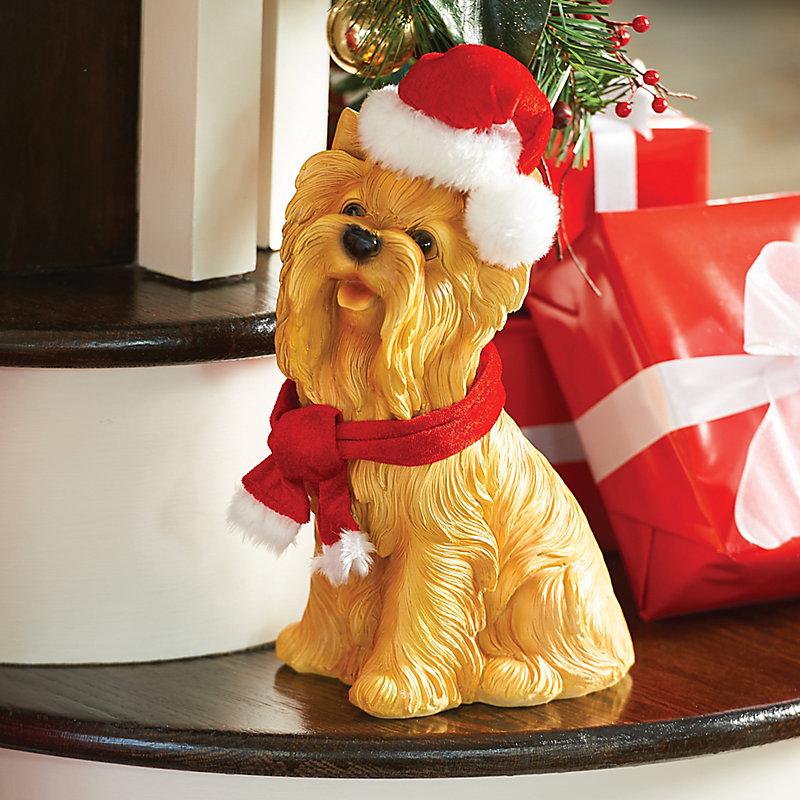 Yorkie Dog Christmas Decoration