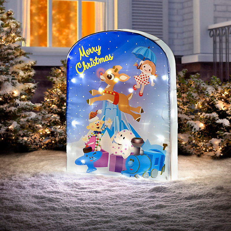 Rudolph Screen Print Lighted Christmas Yard Decor