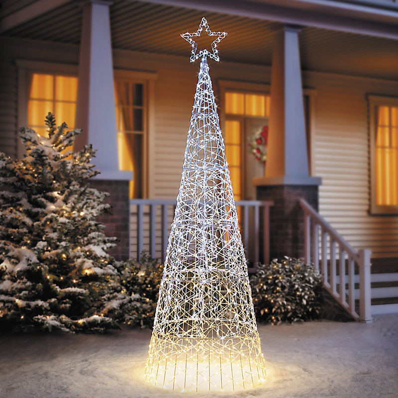 6 12 ombre led cone tree outdoor christmas decoration