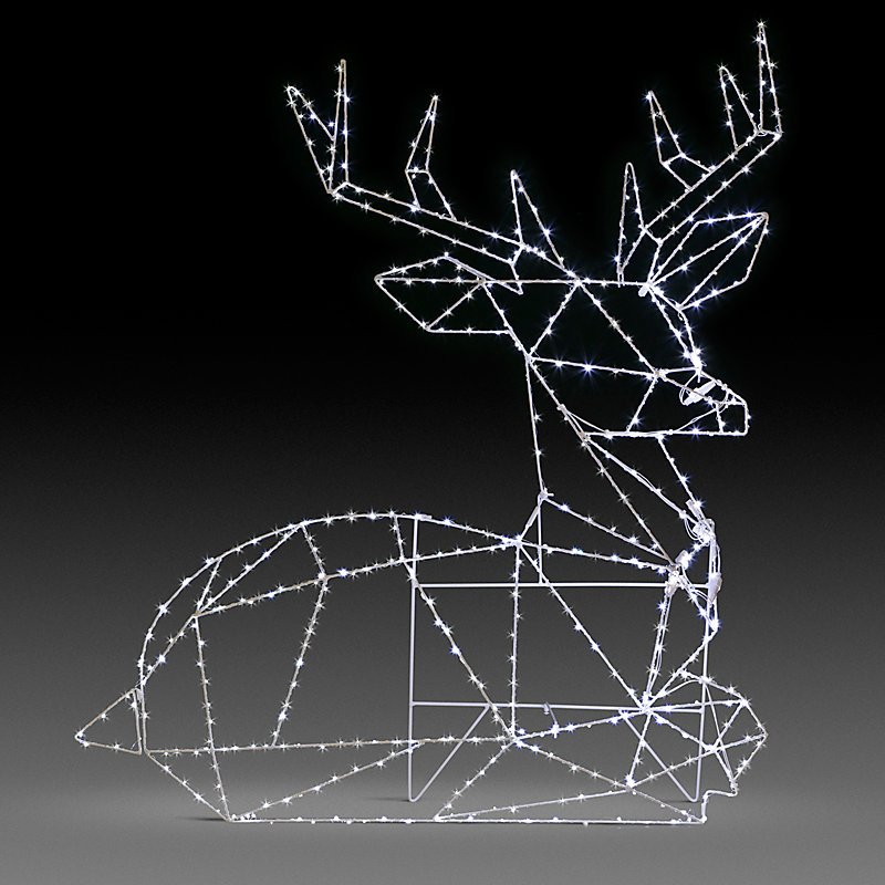 LED Geometric Reindeer Outdoor Christmas Decoration - Buck