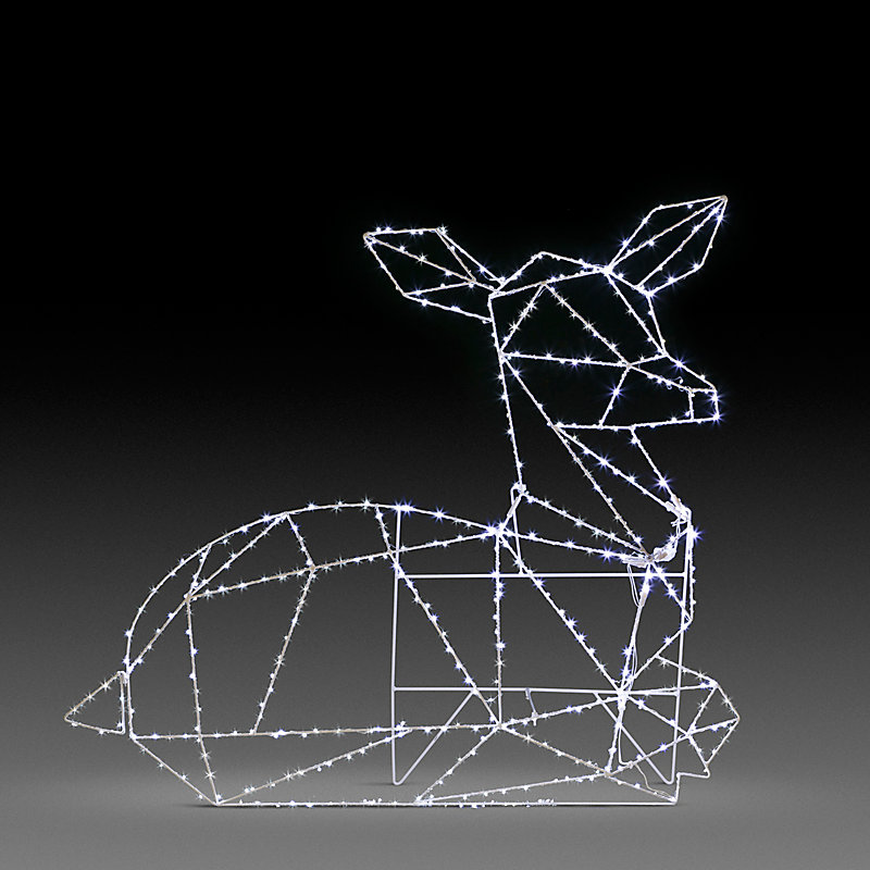 LED Geometric Reindeer Outdoor Christmas Decoration - Doe