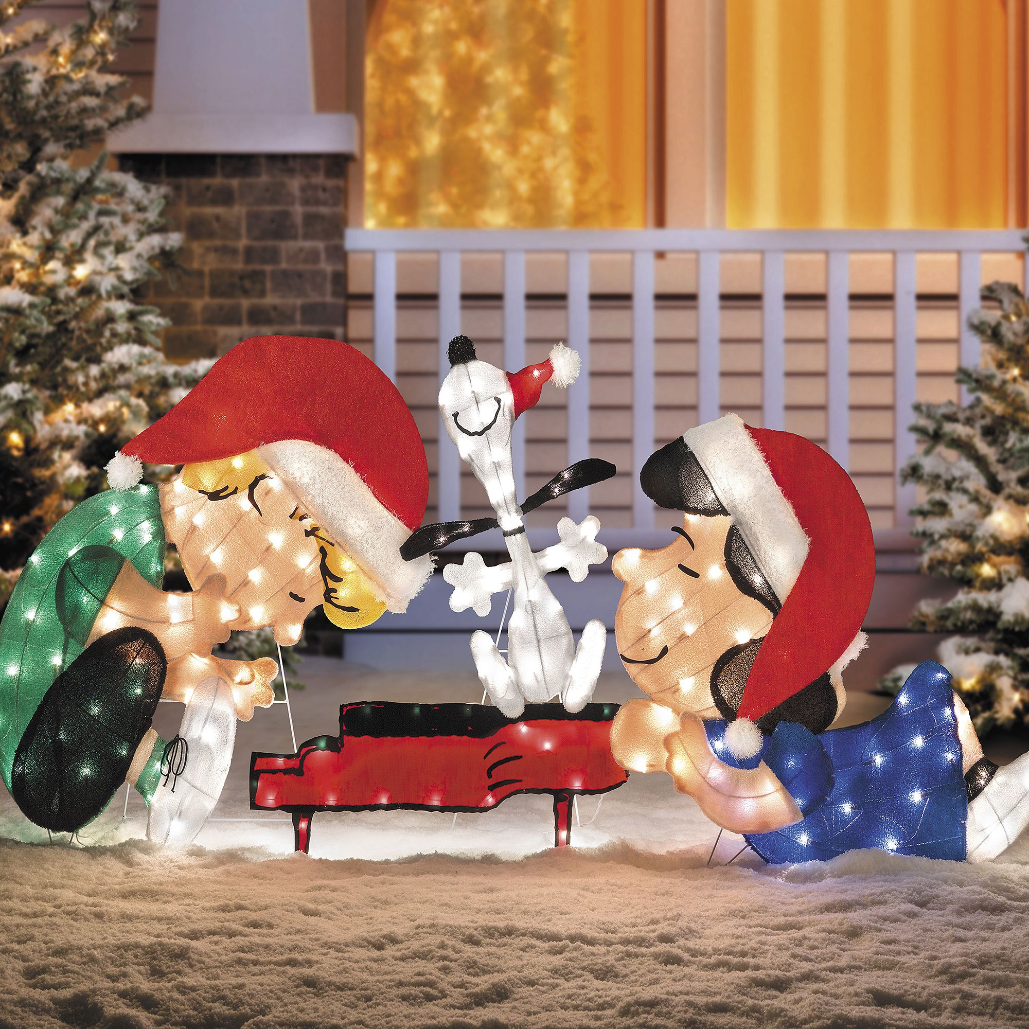 sled riding husky lighted outdoor christmas decoration is a present all season long