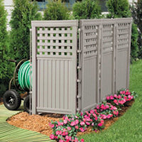 Suncast Outdoor Privacy Screen-Taupe
