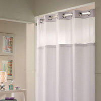 Hookless Shower Curtain Snap On Liner