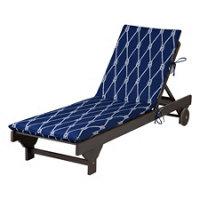 Outdoor cushions nautical knots print improvements for Box edge chaise cushion