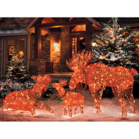 moose family set of 3 - Christmas Moose Decorations