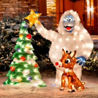 rudolph and bumble outdoor christmas decoration 42