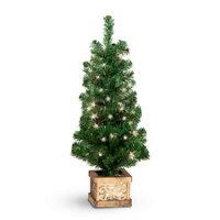 4 pre lit indooroutdoor christmas tree set of 2 - Pre Lit Outdoor Christmas Tree