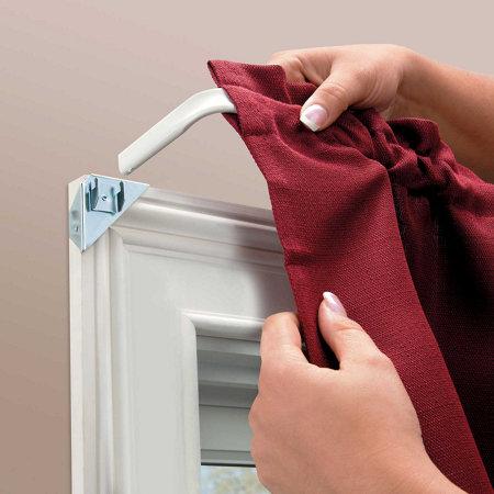 Curtain Rod Without Brackets Shapeyourminds Com