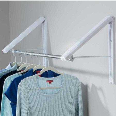Quikcloset wall mounted garment rack portable closet for Cloth hooks wall mount