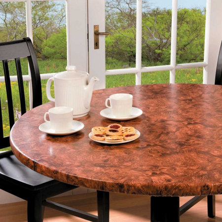 Burlwood Look Table Pad-custom-fit table cover