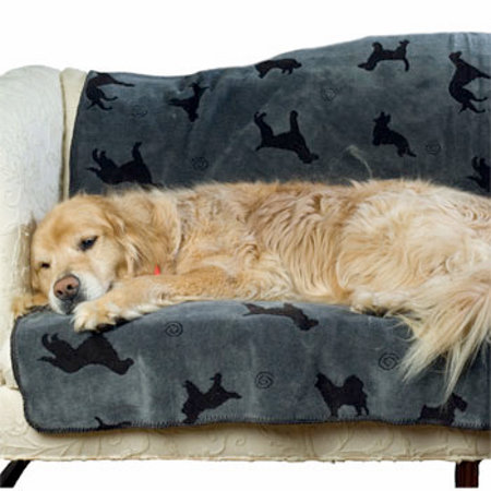 Plush Dog Throw Blanket Small