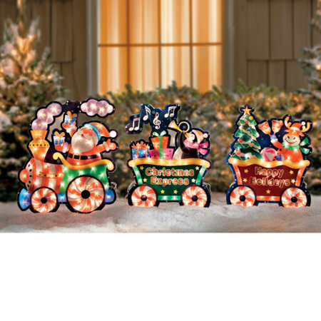 christmas train yard art - Christmas Train Yard Decoration