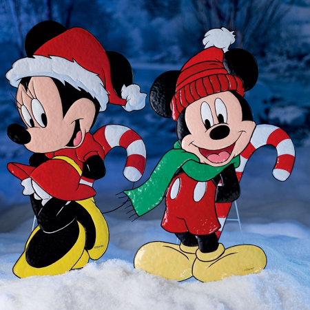 Mickey Or Minnie Mouse Christmas Yard Art