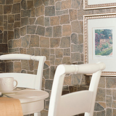 Stone look wallpaper for Papel mural diseno piedra